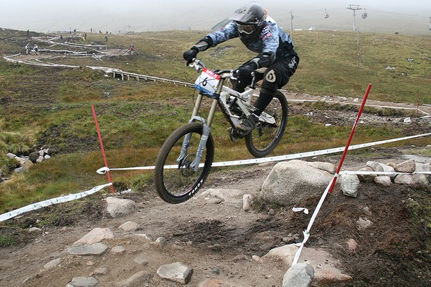 Downhill action at Fort William