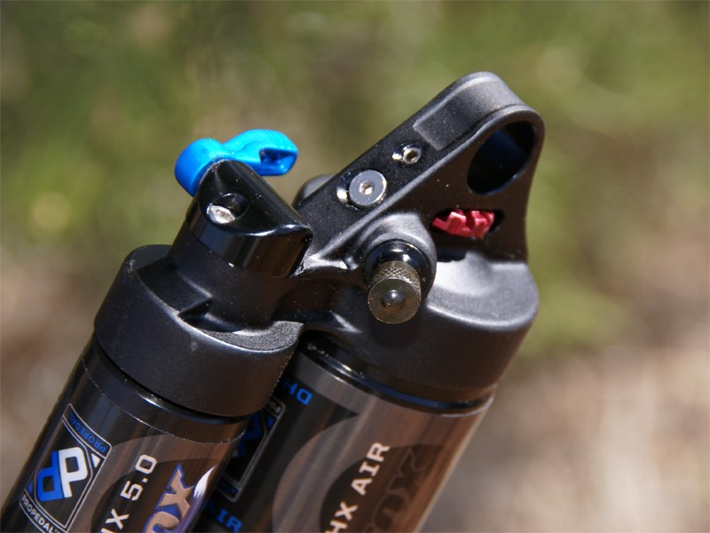 The air valve on the DHX Air has also been relocated for easier access.