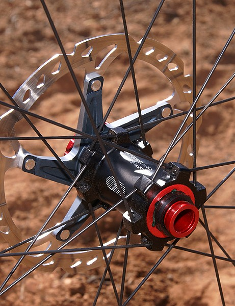 The new 15mm 'E-Thru' front hub is similar to Shimano's 20mm options but downsized and lightened up
