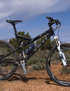 The Yeti AS-R was a fitting test platform for the shorter-travel forks.
