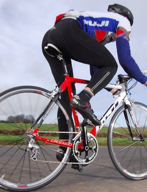 The Fuji Roubaix RC encourages go-faster antics on the race course or the commute run