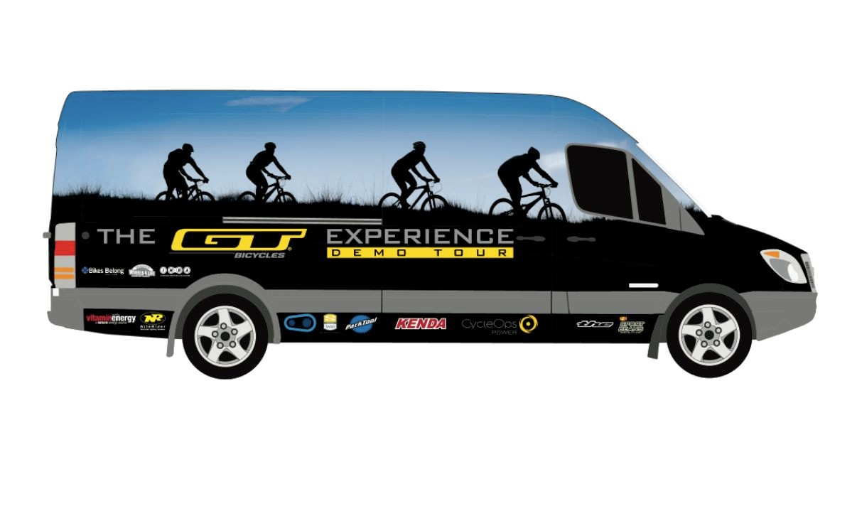 Look for the GT Demo Sprinter van to roll into a trailhead near you.