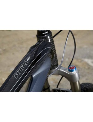 The Force Pro's head- and down-tubes.