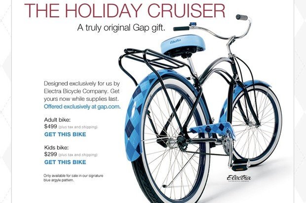 The limited edition Holiday Electra cruiser for Gap.com.