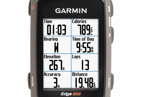 The new Garmin Edge 605 offers a customisable display.