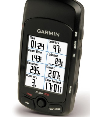 The new Garmin Edge 705 in 'none more' black. Feature set goes up to 11.