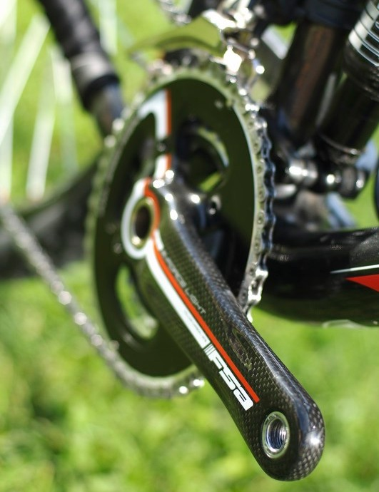 FSA 2 x 9 crank boasts reduced Q-factor for racers