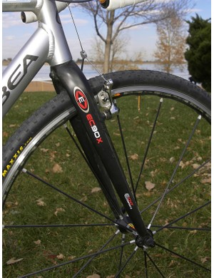 Easton's all-carbon EC90X fork makes for a lightweight front end