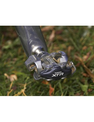 Shimano XTR pedals are a staple of the 'cross circuit for their durability and consistent performance