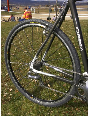 Gould puts Mavic's carbon-spoked R-SYS Premium wheels to use on the 'cross circuit