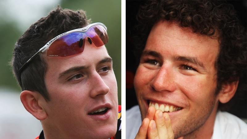 Geraint Thomas [left] Mark Cavendish [right]