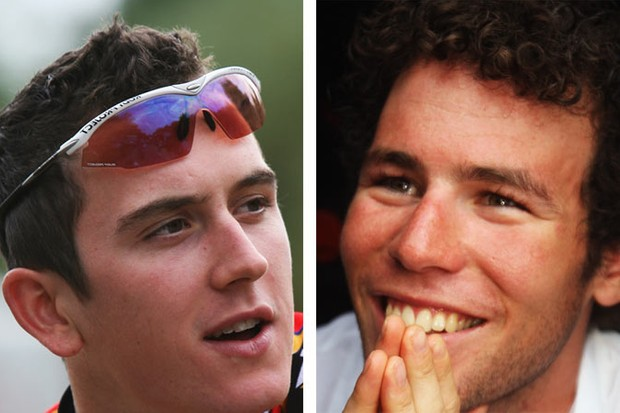Geraint Thomas [left] Mark Cavendish [right]