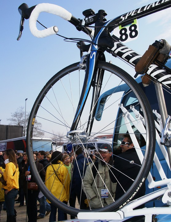 Gerolsteiner riders were among those that preferred traditional box-section rims for Gent-Wevelgem.