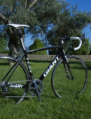 The Dura-Ace version is only slightly more sedate with a purposely black-and-white paint job.