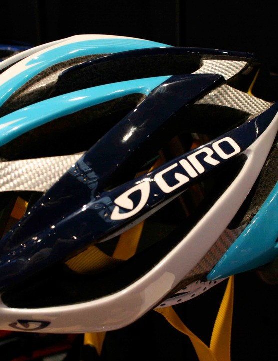 Giro's Astana Ionos helmet.