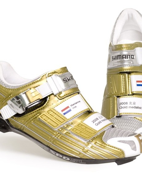 Marianne Vos's new gold SPD shoes
