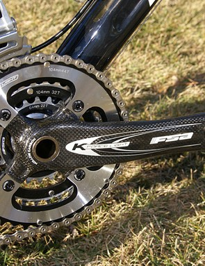 The cross-section of FSA's K-Force Light crankarm is similar to that of the top and down tubes.