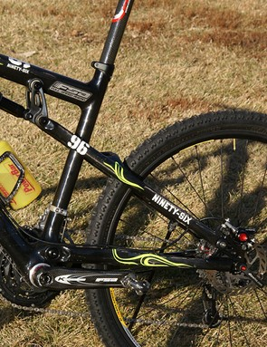 Merida uses a simple and effective single pivot suspension layout.
