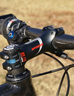 FSA's OS-115 stem may be aluminum but it's lighter and possibly stiffer than many carbon models