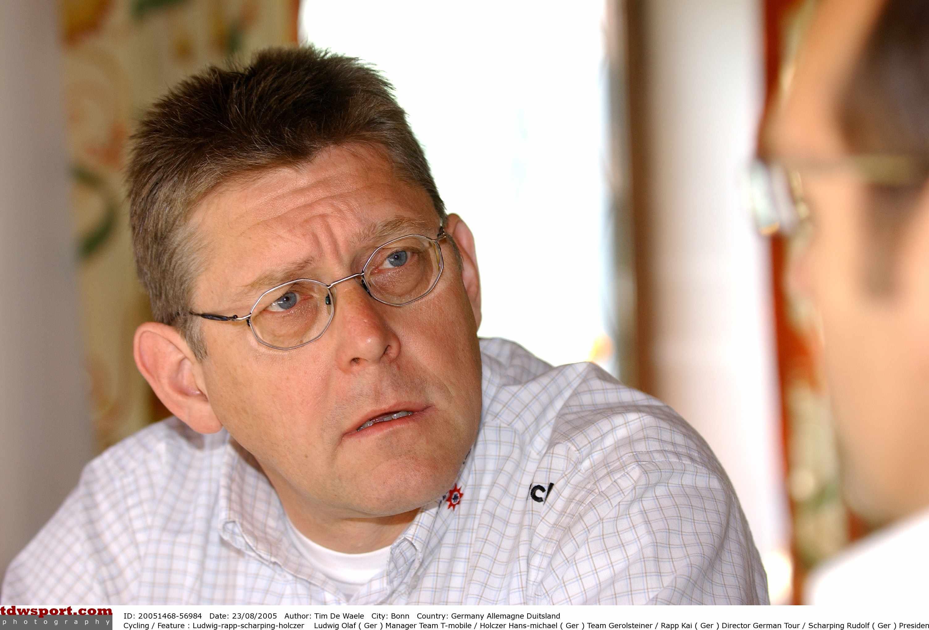 Team Gerolsteiner chief Hans-Michael Holczer.
