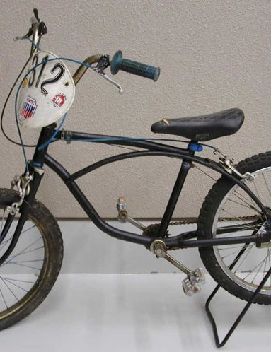 Rey's first trials bike, from 1980.