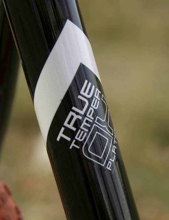 Fisher builds the frame with True Temper OX Platinum tubing.