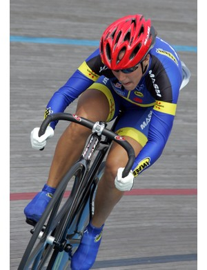 Helena Casas of Catalunya Track Cycling Team onboard the Massi Pro Track