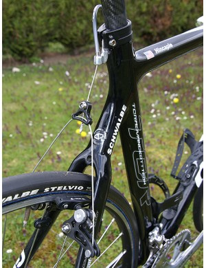 The curved seat stays should give 'Big George' a softer ride.