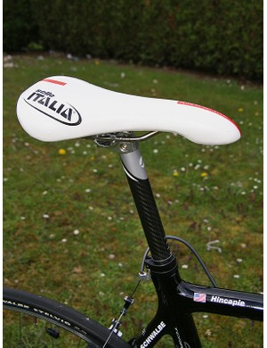 The Selle Italia Flite TT Team Edition saddle is a ubiquitous choice among the pros.