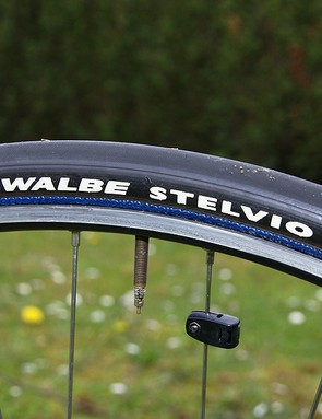 A wider 25mm Schwalbe tubular gives a little more cush.