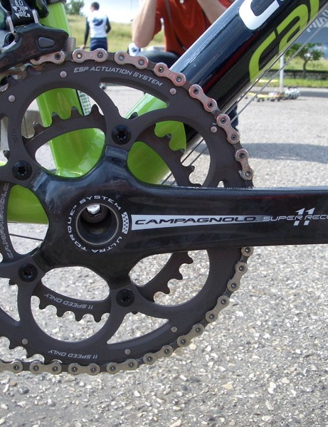 Thankfully the Super Record chainset is available as a compact.
