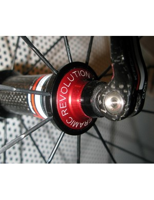 Ceramic bearings are fitted in both the front and rear hubs.