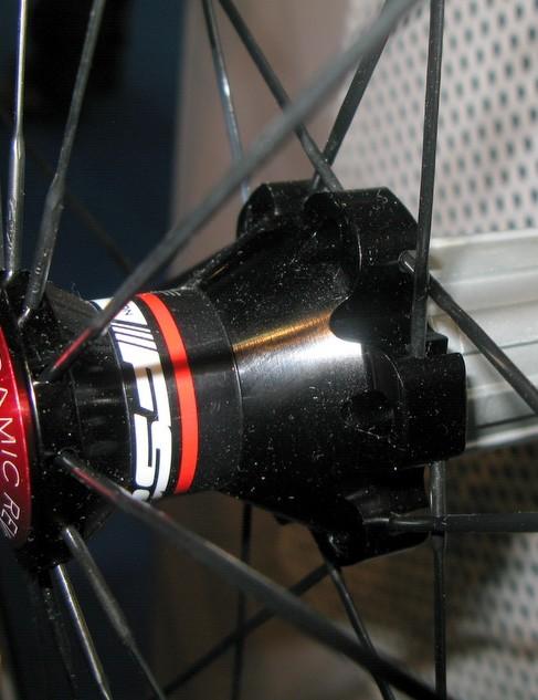 The rear hub shell is all-aluminium...