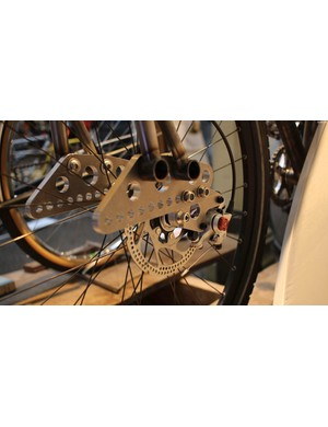 The fork trail is adjustable from 95mm to negative 32mm