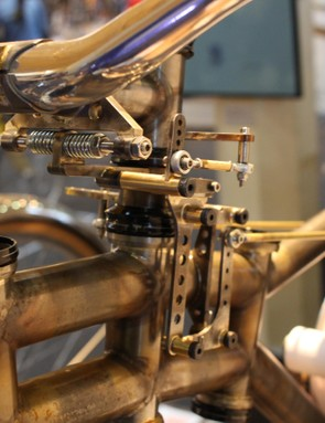 The bike took its creator six weeks of solid work to make, with many of the parts rebuilt after he had to rethink