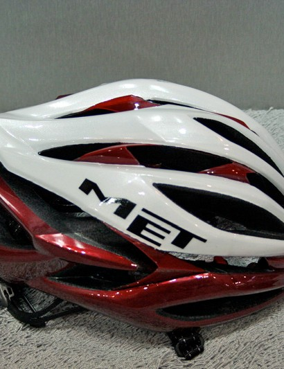 The clear composite skeleton strengthens the helmet but also provides some shock absorbtion.