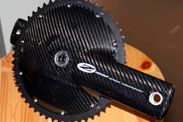 The Zipp VumaChrono chainset is claimed to be the fastest TT crankset there is.