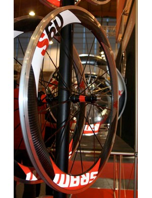 SRAM's S60 wheels have	60mm section rims…