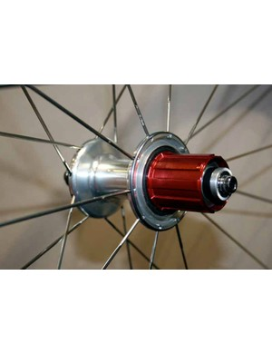 The drive side spokes	have been moved slghtly outwards to strengthen the wheel.