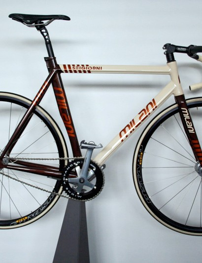 The Milani Seigiorni track frame looks forward to the day that the Six Days of Milan returns.