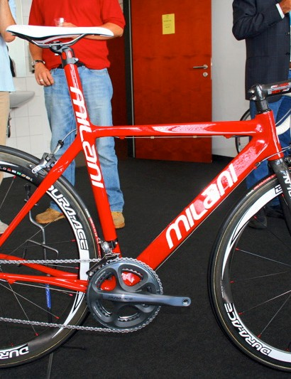The Milani N107E is the Gallarate company's flagship frame.