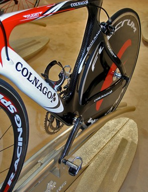 The Flight's seat tube wraps closely around the rear wheel.