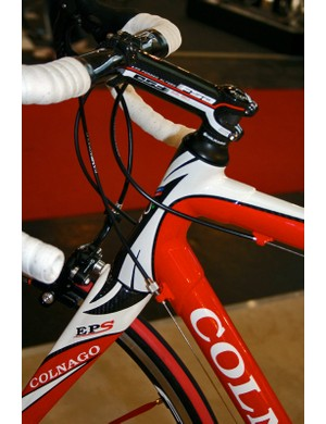 Colnago introduces semi-integrated headsets for the first time this.  Moreover, the EPS also uses a tapered steerer tube.