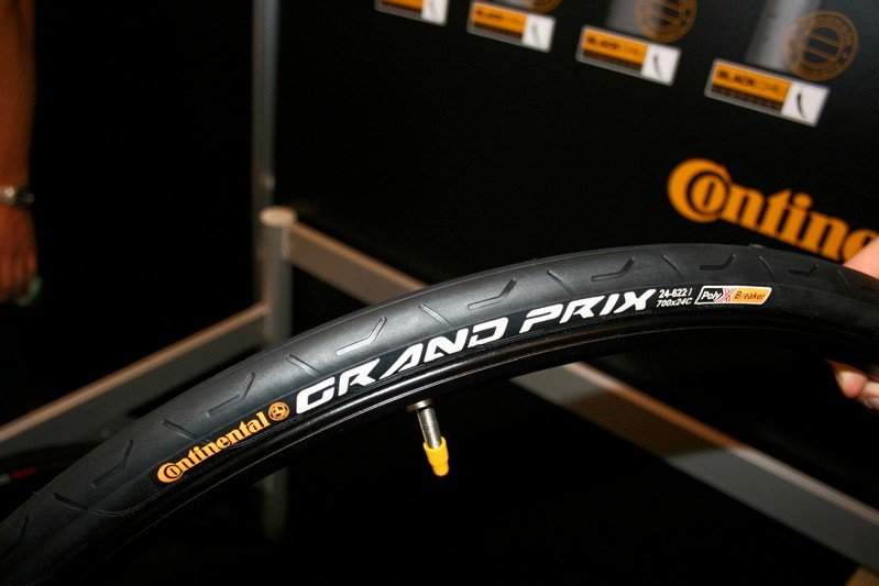 The new Continental Grand Prix 24 uses its excellent Black Chili compound for grip and a 24mm section for long distance comfort.