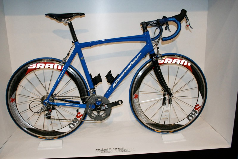 The Condor Baracchi is now a wrapped tube-to-tube carbon frame instead of the previous semi-monocoque.