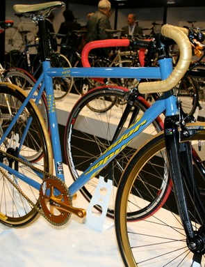 The turqoise and gold option might suit an Astana rider…