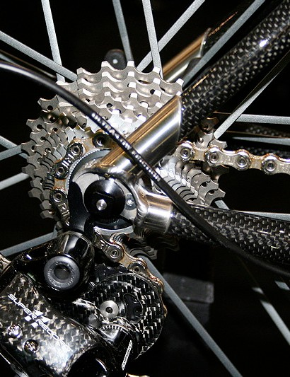 Enigma has beefed up its bespoke titanium dropouts across the range for more rear end stiffness.