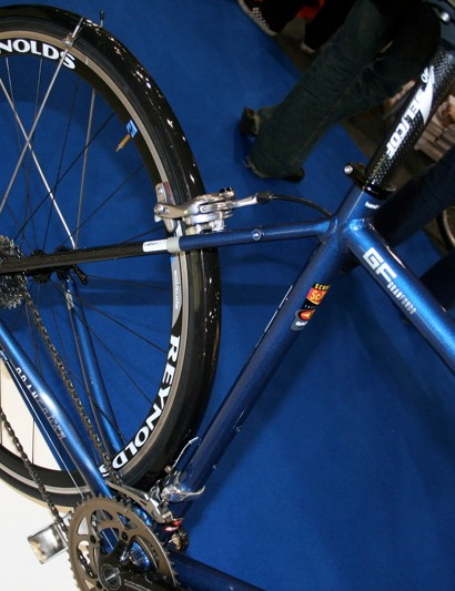 The Gran Fondo's stays are designed to fit mudguards and a rack but still be race ready.