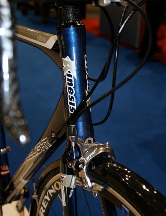 The Gran Fondo's head tube is long to give the frame a comfortable long distance riding position.
