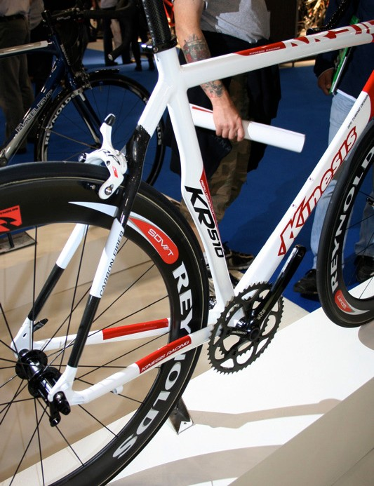 Despite being mostly aluminium the new KR510 has carbon seat stays in common with many others.